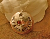 Mom's Mixed Metal Custom Necklace