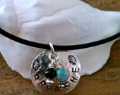 Breathe Yoga Leather Cord Necklace