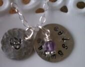 Namaste Om Yoga Sterling Silver Necklace
