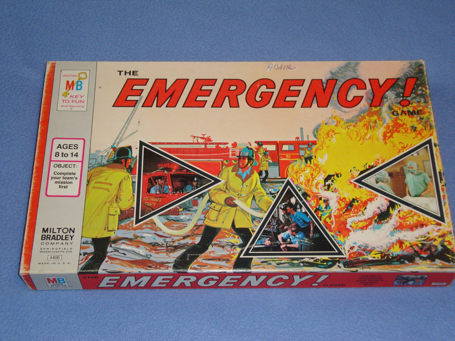 vintage board game emergency television tv show 1973. Black Bedroom Furniture Sets. Home Design Ideas