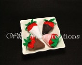 Plain Chocolate covered strawberries - Set of 4  READY TO SHIP!!