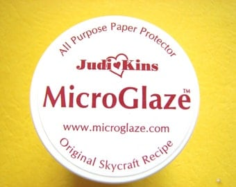 1 SAMPLE SIZE Jar Judi Kins Microglaze .15 oz. - Protector to Seal Photos and artwork before using resin, a must for photo jewelry