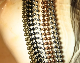 24 Ball Chain Necklaces  2.4 mm - 24 inches long Lead and Nickel Free Jewelry making supplies