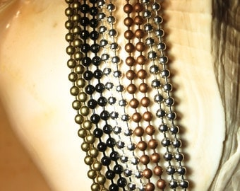 24 Necklaces - 5 colors to choose from - 24 inch long ( 2.4 mm Petite Ball Chain)