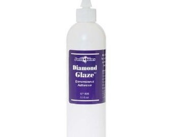 1 bottles 8 oz Diamond Glaze (Resin Like doming adhesive) by Judikins-The perfect Adhesive / glue for Jewelry Making