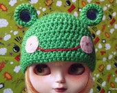 Cute frog hat for Blythe