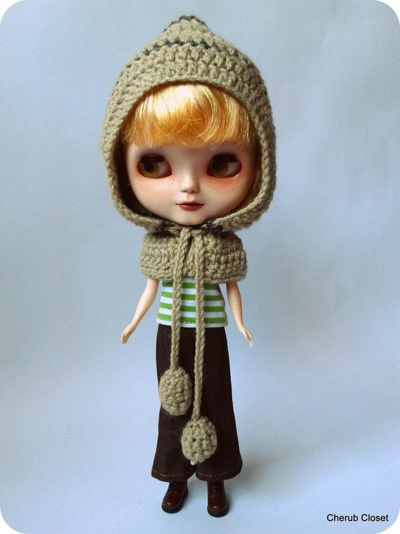 "Blythe crochet hat. Natural style hat with epaulets. 20% OFF. Use coupon code ""LOVINGCHERUB20"" at check-out."