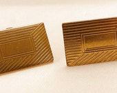 Vintage Gold Filled Rectangle Cuff-links