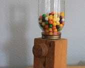 Handmade Vintage Primitive Candy Gum / Nut  Dispenser Vending Machine Father's Day or Guy Gift