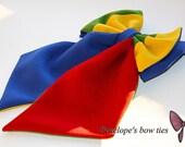Bright colorful bow tie
