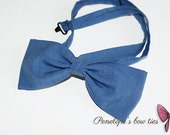 Cheerful blue bow tie