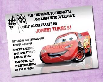 Lightning Mcqueen Birthday Invitation