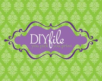 DIY Print at Home Digital Print File