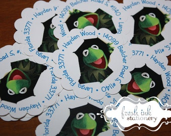 Kermit the Frog Address Envelope Seals