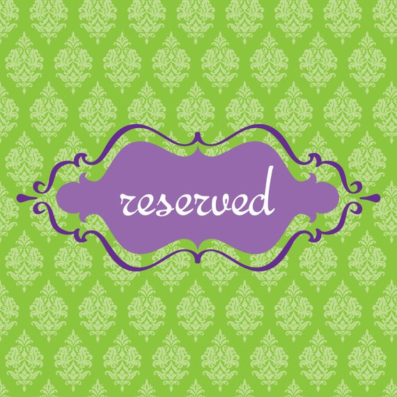 Reserved for Rachael... Birthday stationery