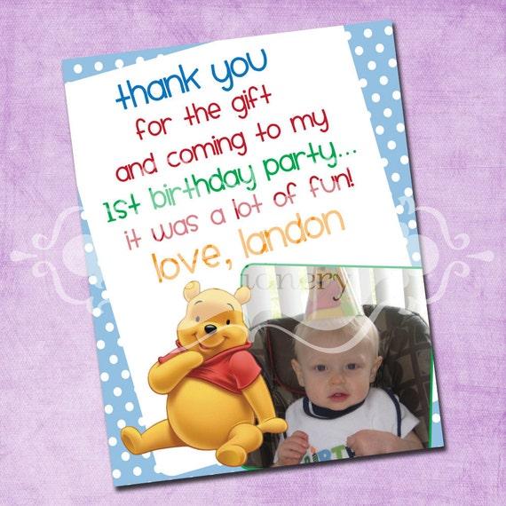Pooh Bear Thank You Card