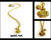 Eau De Parfum - Intricate French Perfume Bottle On Gold Chain