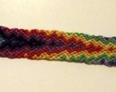 Woven Mult Color Chevron bracelet