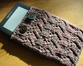 PDF Pattern Knitting Kindle Ereader Cover Covered in Cocoa CAN BE made to Order