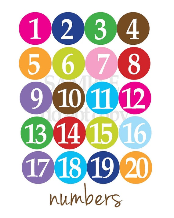 Numbers Poster for Kids