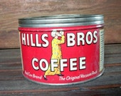 Vintage Hills Bros Coffee Tin Can,Key Type
