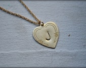 Monogrammed Sweetheart Necklace