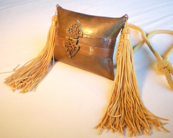 Vintage Old Collectible Brass  & Copper Purse