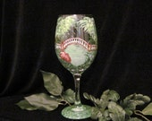 Crim Dell Bridge Williamsburg Va hand painted wine glass by Deanna Bakale