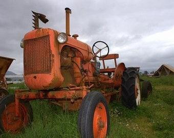 Antique Tractor  -  11 X 14 Print