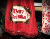 Crochet Christmas Hanging Kitchen Towels (set of a two)