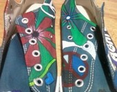 Peace and Love custom canvas shoes Made to Order Different designs available