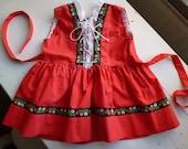 Vintage Swedish 60s/70s dress / Dirndl baby dress