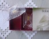 Vintage Swedish napkin holder / Lindshammar crystal