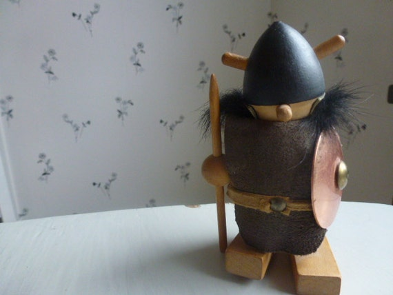 RESERVED FOR SHARI Vintage Swedish viking / Wood ornament