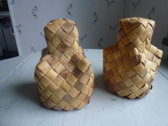 SOLD TO AYUMI Vintage Swedish birch lamp shades / Set of 2