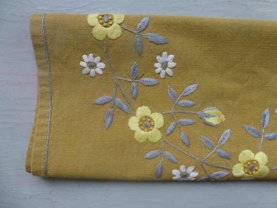 RESERVED / SOLD Vintage Swedish tablecloth / Embroidered flowers