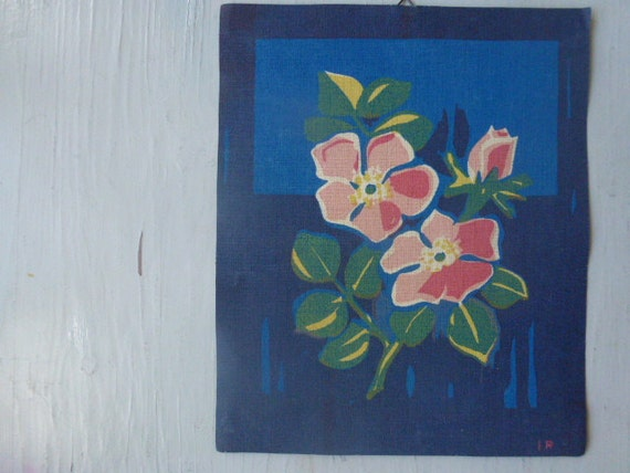 Vintage Swedish textile print / Ilse Roempke