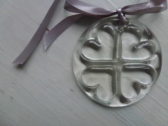 Vintage Swedish glass pendant / Paper weight / Sun catcher