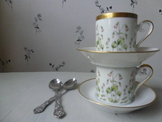 CUSTOM ORDER for LINNEA Vintage Swedish Rörstrand demitasse cups / Set of 5