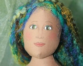 RESERVED for CactusLoon, Mermaid Art Doll, Cloth Doll, Fabric Doll