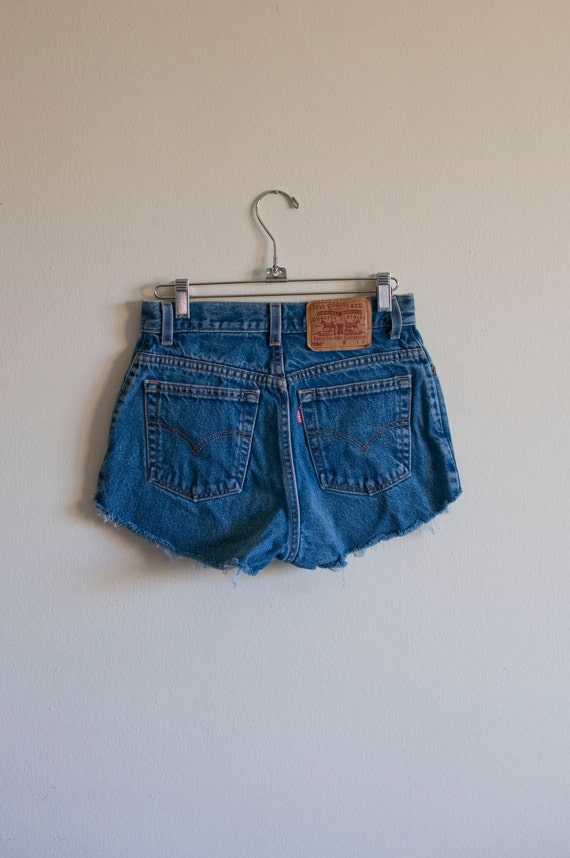 1990's XS/SML Levi's faded jean cut off shorts