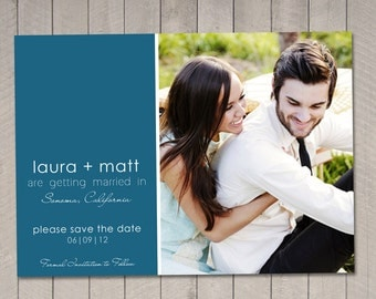 Modern Save the Date Card (Printable) DIY by Vintage Sweet
