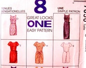 """McCall's 7650 """"8 Great Looks in One, Easy Pattern""""  Size 20,22,24 - Unused - 1995"""