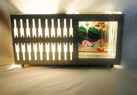 Retro TV Lamp Fish Bowl Combo 1950's Kitsch
