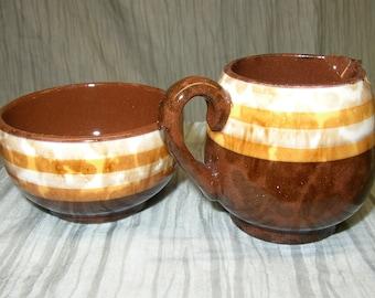 Vintage Mini Creamer and Sugar Bowl
