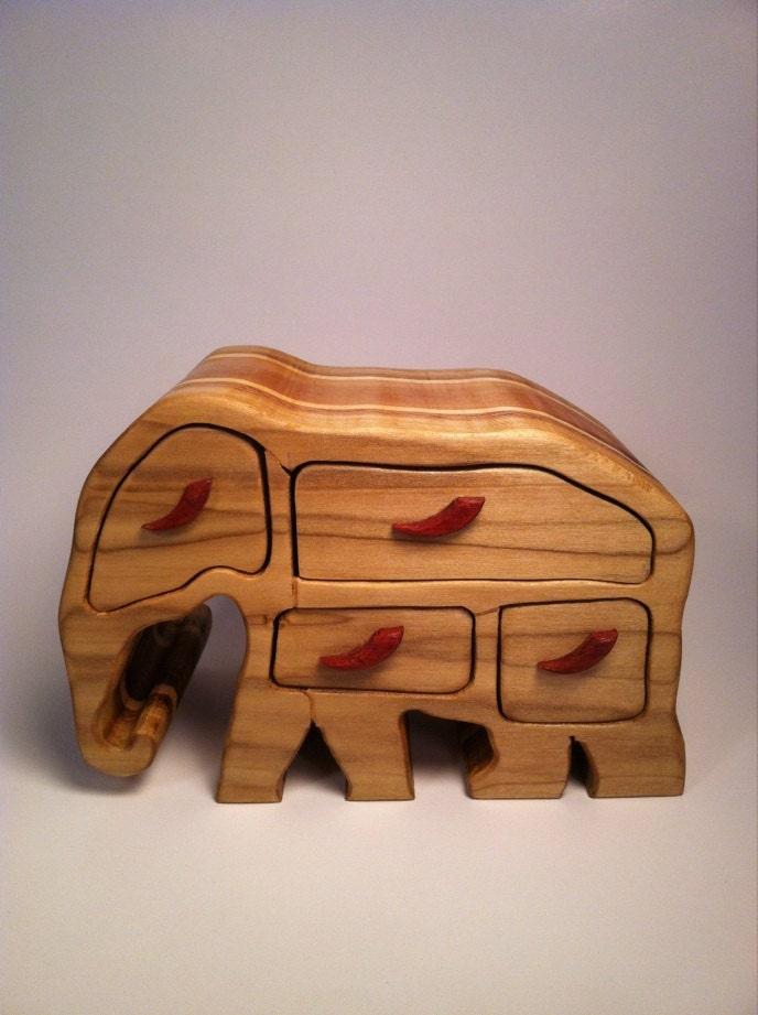 Wood Band Saw Box ~ Elephant bandsaw box