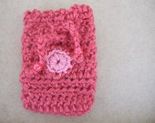 Crocheted Gift bag with flower