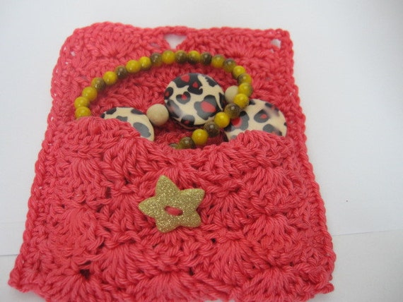 Giftcardholder, Facial tissue bag crocheted small purse