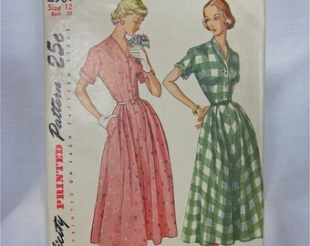 Vintage 40s Simplicity Dress Sewing Pattern, 2901
