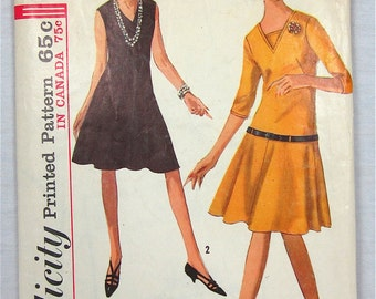 Vintage 60s Dress Sewing Pattern, Simplicity 6223